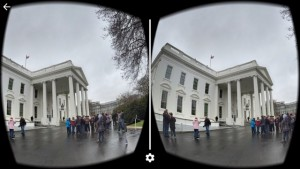 A look at the White House through a VR headset